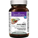 New Chapter Every Man's One Daily 40+, Men's Multivitamin Fermented with Probiotics + Saw Palmetto + B Vitamins + Vitamin D3 + Organic Non-GMO Ingredients - 72 ct (Packaging May Vary)