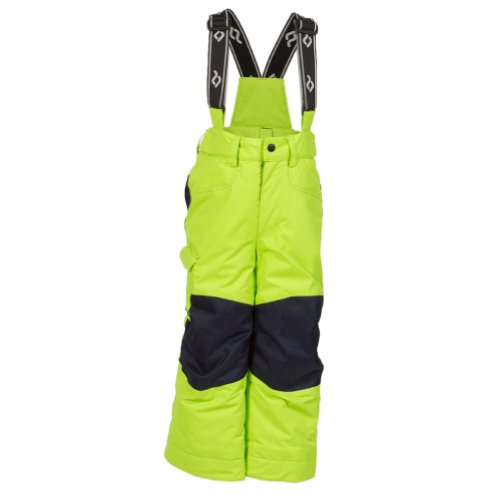 Jupa Boris Insulated Bib Pant Boy's Lime Car / Dark Ocean Lime Car/Dark Ocean 6 by JUPA