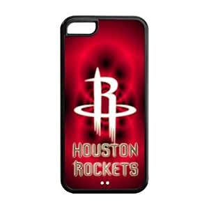 Cutomize Houston Rockets Logo Scratch-Resistant Case Soft TPU Skin for iphone 5c Cover - Black/White