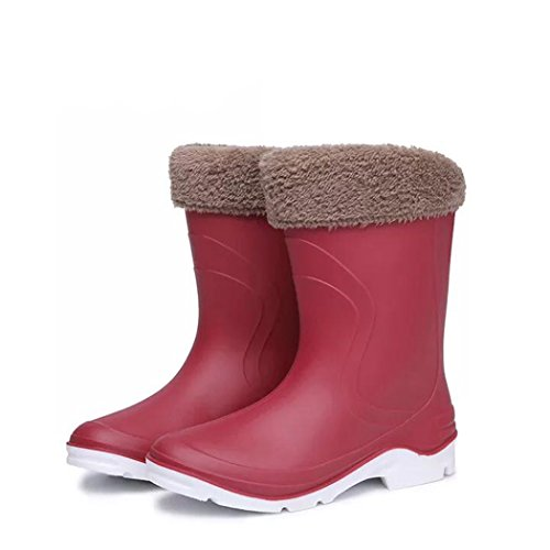 Latest Rainy Youth Outdoor Activities Add Simple Shoes Rain Waterproof Garden Cwinered Day Fashionable Skidproof HOTER Work Plush Lining SCwd8tqn