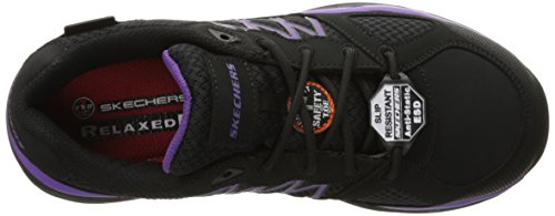 Skechers Work Womens Conroe Kriel Slip Resistant Shoe Black/Purple