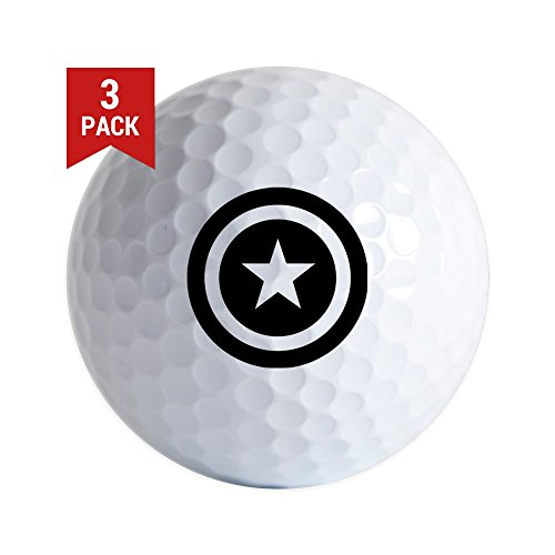 America Golf Balls (CafePress - Captain America - Golf Balls (3-Pack), Unique Printed Golf Balls)