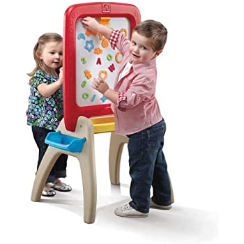 amazon com step2 easel for two with bonus magnetic letters numbers