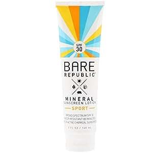 Bare Republic, Mineral Sunscreen Lotion, Sport, SPF 30, 5 fl oz (148 ml)