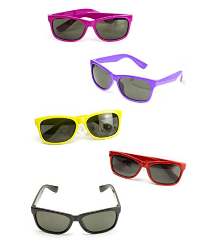 (Fun Central AT803 12ct Color Frame Sunglasses- for Christmas Parties, Birthday Parties, Rock n Roll Parties, Rave Parties, Halloween Parties, New Year's Eve -)