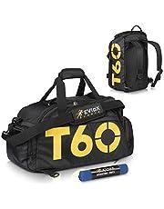 00ac6e1db6ca EVIoX Sports Gym Bag Holdall Duffle Backpack Bag + FREE Microfibre Sports  Towel