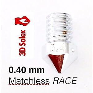 3D Solex UM2 Matchless Nozzle - 2.85mm Filament, 0.40mm RACE by 3D Solex