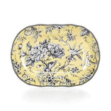 222 Fifth Adelaide Yellow 14  Oval Platter