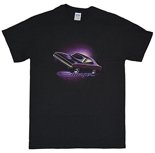 1968 to 1970 Dodge Charger - Neon Purple T-Shirt 100% Cotton (Dodge Neon Colors)