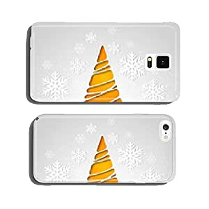 Merry Christmas tree greeting card. Paper design cell phone cover case Samsung S5