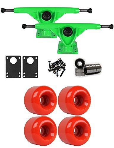 RKPグリーンLongboard Trucksホイールパッケージ60 mm x 47 mm 83 a 186 Cレッド [並行輸入品]   B078WVYPVS
