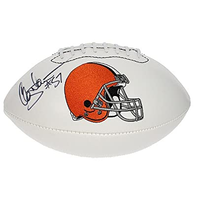 Clay Matthews Autographed Cleveland Browns White Panel Football - JSA Certified Authentic