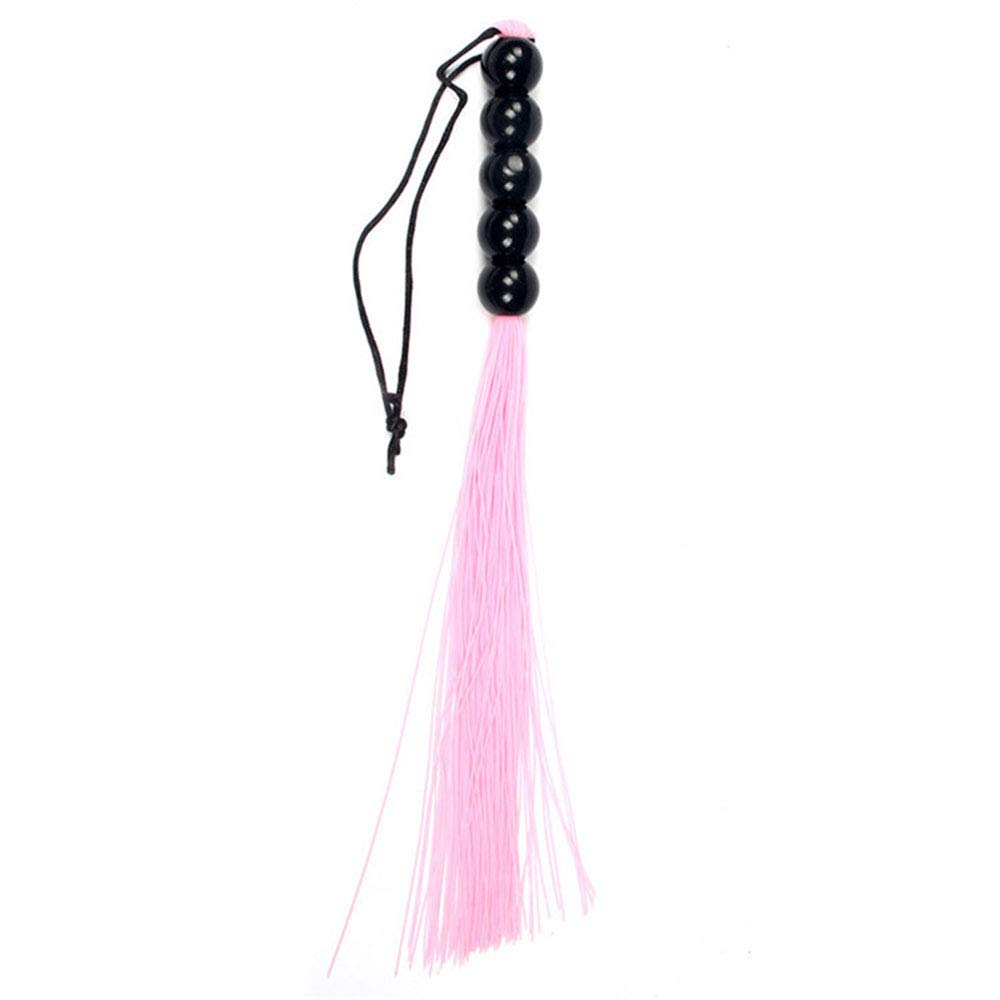 GUOxufei 2pcs Adult Sexy Silicone Whip, Foreplay Pick Tease Tune pTeach Whip, Male and Female Sexy Adult Products,Pink by GUOxufei