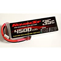 RoaringTop LiPo Battery Pack 35C 4500mAh 4S for RC Car Boat Truck Heli Airplane