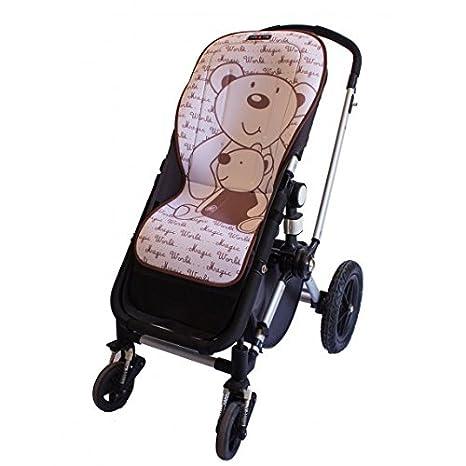 Tris&Ton colchoneta silla de paseo ligera maxi para carrito cochecito bebe transpirable de microfibra modelo Ositos