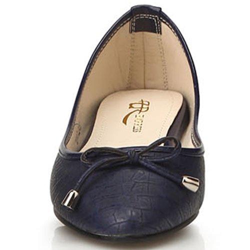 New Low Classic Shoes Flats Womens On Loafers Slip Heels Blue Ballet xrBrqIwP6U