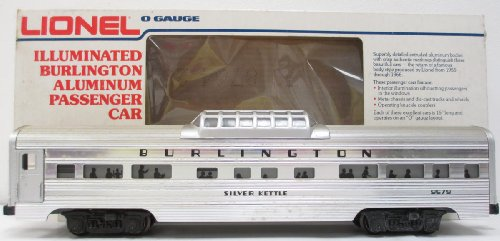 Lionel 9579 Burlington Aluminum Vista Dome Car O Gauge ()