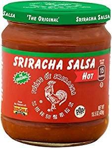 Huy Fong Sriracha Salsa 15.5oz Jar Select Heat Level Below (Hot) by Red Gold - Pop! Gourmet Foods - Huy Fong Foods