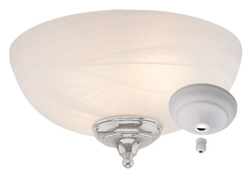 Light White Cap Dome (Monte Carlo MC49-L Dome Bowl Light Kit with Brushed Steel and White Finish Bowl Caps, White Faux Alabaster Finish)