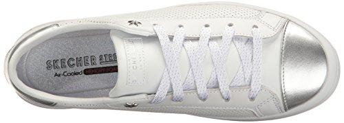 Para lite Skechers white silver Mujer Entrenadores Hi Blanco F8Fnprqtx