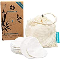 Chinchilla® Wasbare make-uppads, 10 stuks, wattenpads van bamboe, inclusief waszak van katoen, herbruikbaar, plasticvrij…