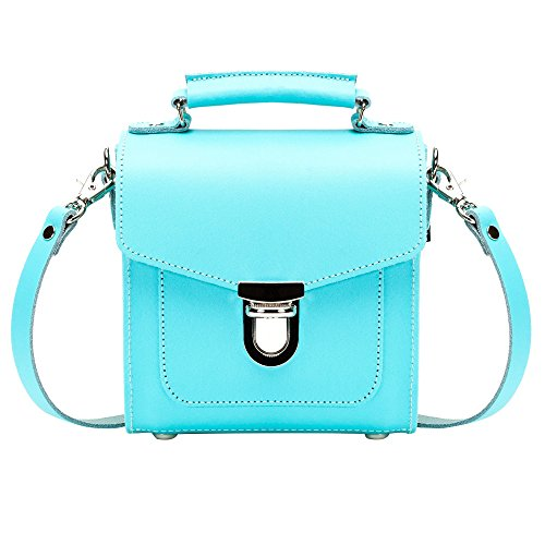 Handle Bleu Sac à en Femme main coquillage Zatchels cuir Top qO1w55
