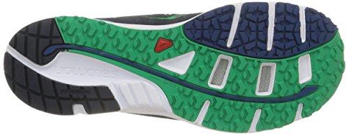 Salomon Mens Sense Mantra 3 Trail Hardloopschoen Diepblauw / Wit / Echt Groen