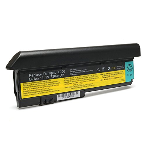 Ibm Lenovo Thinkpad Notebook (11.1V 7200mAh New Laptop Battery for Lenovo IBM ThinkPad X200 X200s X201 X201i X201s;P/Ns 42T4534 42T4535 42T4543 42T4650 42T4834 43R9254 43R9255)