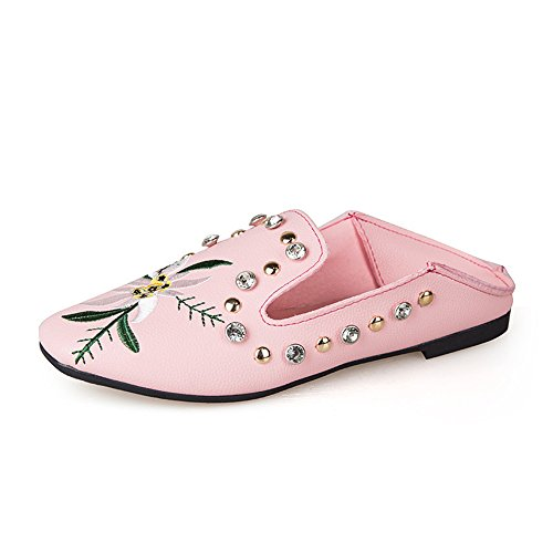hot sale online 489f3 618d5 Women s Embroidered Floral Slip On Mule Loafer Loafer Loafer Slipper Flats  Parent B07DTZ69R8 a6f9f8