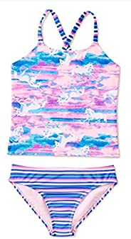 Girls Unicorn Blissful Blue Tankini Swimsuit