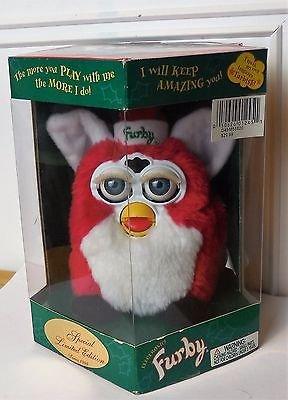 Christmas Electronic Furby 1999 Ltd Edition Red & White 70-885 Tiger Elec Bnib