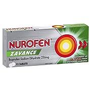 Nurofen Zavance Pain Relief Tablets, 256mg (Count of 12) (174291)