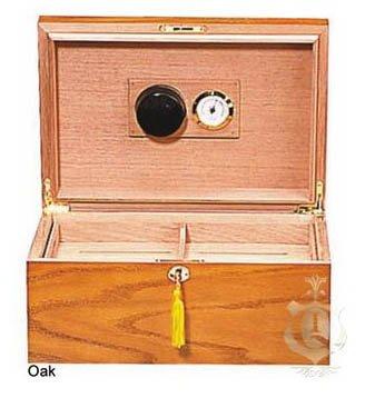 The Milano 75-100 Oak Cigar Humidor (Chest Humidor)