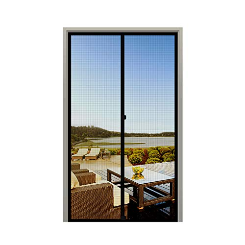 MAGZO Screen Door Magnets 34 x 82, Durable Fiberglass Door Mesh with Full Frame Hook&Loop for Front Door Fits Door Size up to 34