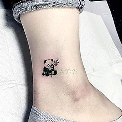 5 unids Etiqueta Engomada Del Tatuaje del tatuaje del tatoo panda ...