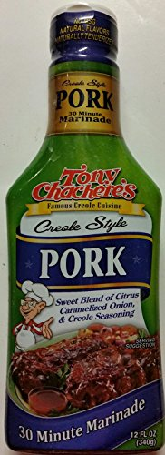 Tony Chachere's Creole Style 30 Minute Marinade, Pork 12 Oz (Pack of 3)