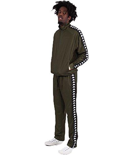 b0b65287 Kappa Men's Treventi Slim Tracksuit, Green at Amazon Men's Clothing ...