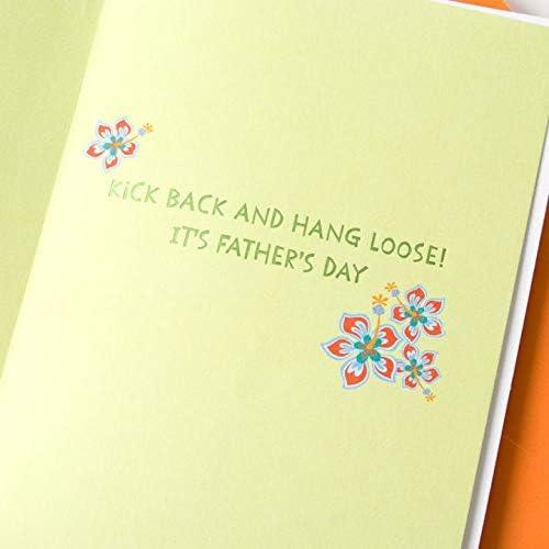Corgi galés en camisa hawaiana tarjeta del día del padre ...