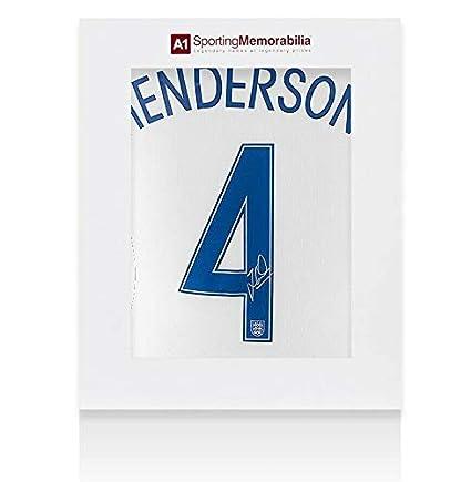factory price 76d4a 3eaf1 Jordan Henderson Signed Jersey - Official England Shirt 2016 ...