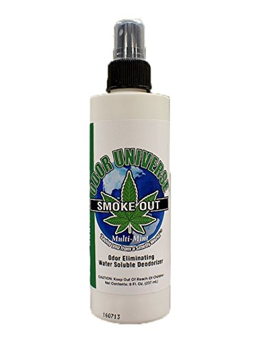 Odor Universe Smoke Out Smoke Smell Remover Removes Smell of Cigars Cigarettes Marijuana and Other Smoke and Organic Smells Including Spoiled Milk and Other Car and Home Smells 8 oz. Bottle (Best Spray For Smoke Smell)