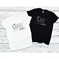 Mr and Mrs Shirt, Mr and Mrs, Just Married Shirt, Honeymoon Shirt, Wedding Shirt, Wife And Hubs Shirts, Just Married Shirts, Couples Shirts