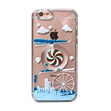iPhone 6s plus case,iphone 6 plus case, liujie Liquid Cool Quicksand Moving Stars Bling Glitter Floating Dynamic Flowing Case Liquid Cover for Iphone 6s plus 5.5inch (SL city blue)