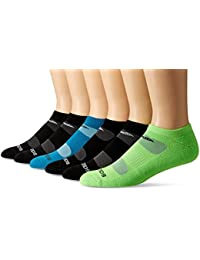 Men's 6 Pack Performance Comfort Fit No-Show Socks