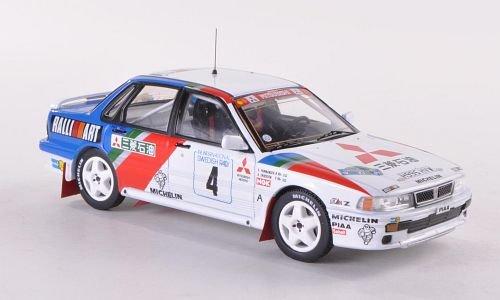 Mitsubishi Galant VR-4, No.4, RalliArt, Rallye WM, Rallye Sweden, 1991, Model Car, Ready-made, IXO 1:43