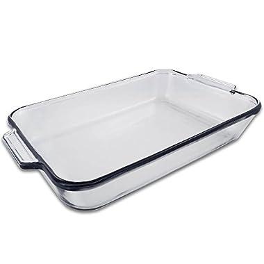 5 Quart - Oblong Clear Glass Baking Dish - 11  x 15