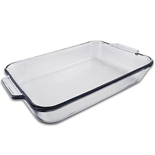 5 Quart - Oblong Clear Glass Baking Dish - 11 inch x 15 inch