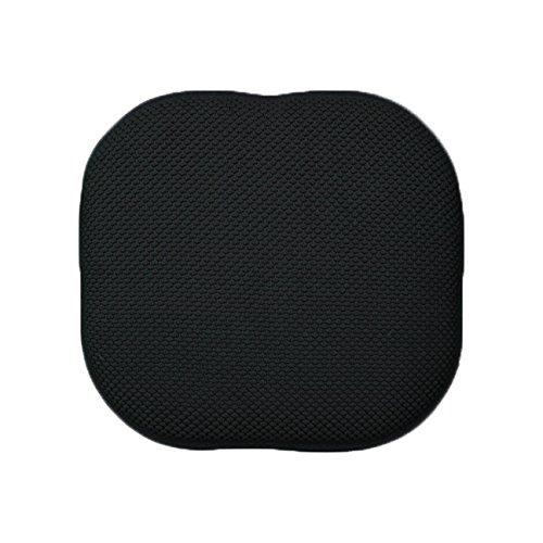 Memory Foam Chair/seat Cushion Pad : Non Slip (Black) - Seat Rubberized Pad