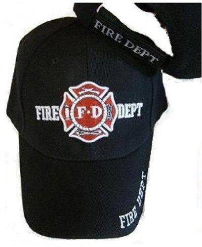 (Black Fd Fire Department Hat Dept Firemen Fdny Ball Baseball Cap)