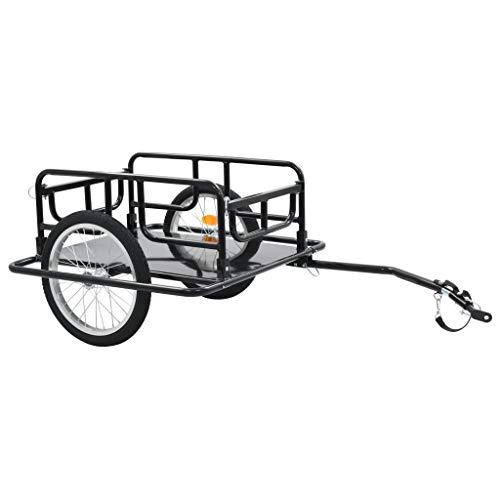 vidaXL Bike Cargo Trailer Foldable Drawbar Ball Coupling System Bicycle Cycling Camping Luggage Storage Carrier…