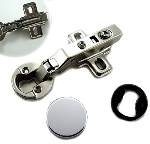 "Dia 1""/26mm Hole Euro Hydraulic Soft Close Hinge for Cabinet Glass Door (Full Overlay)"